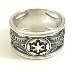 Silver Star Wars Ring  Imperial Cog by SwankMetalsmithing