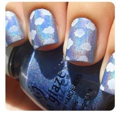 Oh my !!! These cloud nails are to die for okay
