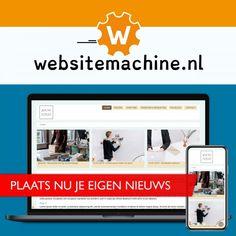 Vers van de pers: de nieuwsmodule van Websitemachine.nl ! Web Design, Vans, Design Web, Van, Website Designs, Site Design