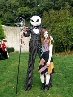 jack skellington and sally costumes nightmare before christmas pic heavy clothing technically these are not halloween costumes - Halloween Jack Costume