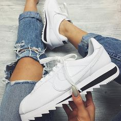 Sneakers femme - Nike Cortez Classic white