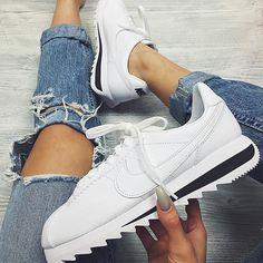 Nike Cortez Jaune Moutarde Femme