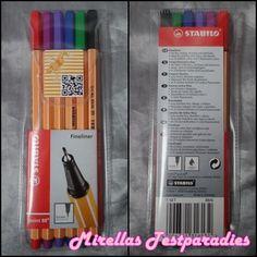 Stabilo Fineliner point 88® Etui mit sechs Farben von Schulranzenwelt.