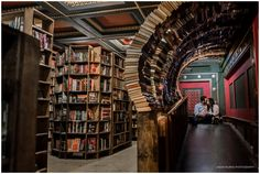 Engagement session at The Last Bookstore in Los Angeles.