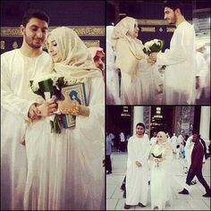 Mashallah! Cutest cutest couple ever! Mekkah, qaba, roses, Quran! Happy life!