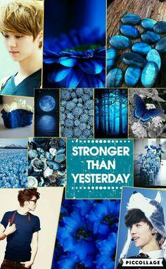 Luhan blue MoodBoard.