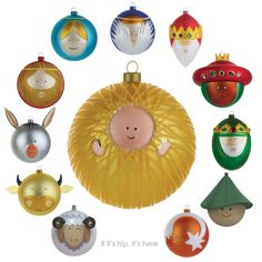If It's Hip, It's Here: Alessi Turns The Nativity Into Cutest Christmas Ornaments Ever.