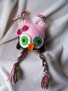 Newborn Owl Hat Baby Girl With Bow and Tassels and Diaper Cover Combo - free shipping-. $29.00, via Etsy.