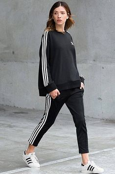 527833ae25c90 + Adidas Pants Outfit Ideas  Super Combo of Comfort and Beauty ☆ See more