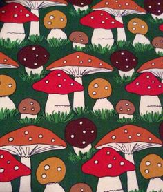 AmazIng Rare 70s swedish vintage mod fabric with by Inspiria, $38.00
