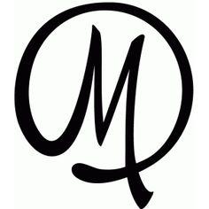 Silhouette Design Store - View Design #40773: round flourish monogram - m