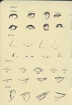 Ojos, narices y bocas