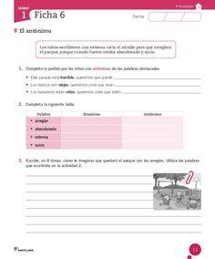 Cuaderno Actividades Lenguaje 3º Spanish Lessons, Acting, Classroom, Teacher, Education, Learning, Love, Spanish Worksheets, Writing Activities