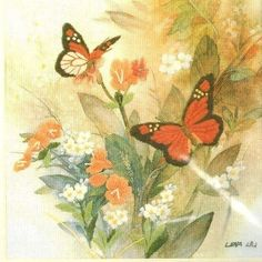 JCA Crewel Kit Lena Liu Butterflies and Blossoms Floral Simplicity USA 05005 #JCASimplicity