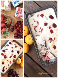 Φτιάξτε το δικό σας Tutti Frutti παγωτό με μόνο 3 υλικά!!  Με ελάχιστα υλικά έχουμε το καλύτερο σπιτικό παγωτό . Προσθέτουμε τα φρούτα της αρεσκείας μας και εντυπωσιάσουμε την οικογένεια και τους φίλους.    Υλικά :    *500 ml κρέμα Tutti Frutti, Sorbet, Pudding, Ice Cream, Cheese, Chicken, Breakfast, Desserts, Food