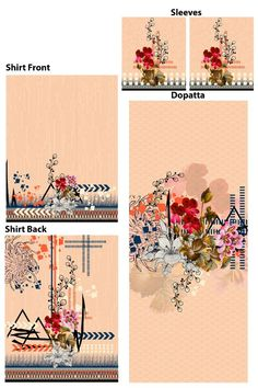 Border Design, Pattern Design, Print Design, D Flowers, Symbolic Tattoos, Textile Design, Printing On Fabric, 3 D, Digital Prints