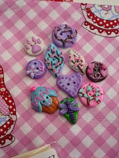Hand made polymer clay buttons