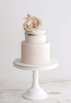 Delicate white and blush cake