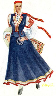 Rucava - Latvian folk costume