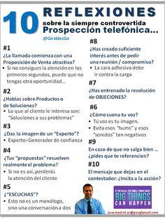 Reflexiones sobre la PROSPECCION TELEFONICA