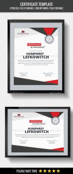 Certificate | Modern, Certificate Templates And Psd Templates