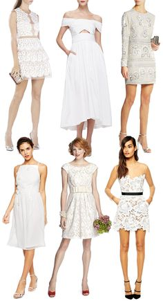 Where to buy short white bridesmaid dresses | www.onefaday.com