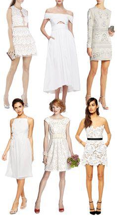 Where to buy short white bridesmaid dresses | www.onefaday.com