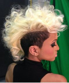 Mohawk Hairstyles Shaved Natural Curly Faux Styles Side Hair Dope Mohawks
