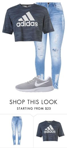 """01"" by macleecell ❤ liked on Polyvore featuring adidas and NIKE"