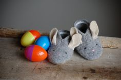 Bunny Slippers Sewing Pattern Baby sizes Instant by WoolyBaby