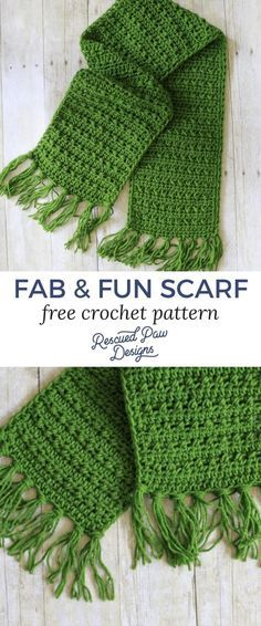 Free Crochet Scarf Pattern - Make this simple fringe scarf crochet pattern today!