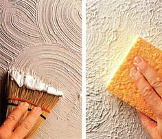 How to texture your walls! Great way to add interest to a bedroom/dining room