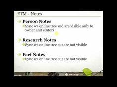 Family Tree Maker: Notes - YouTube