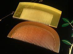 The set of Tortoiseshell hair combs. Accessories / Geisha hair clip  /Japanese vintage/ Japonisme / Japonism by JapaVintage on Etsy