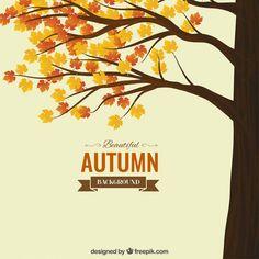 秋の背景 無料ベクター