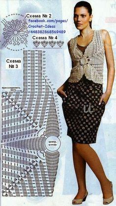 Fabulous Crochet a Little Black Crochet Dress Ideas. Georgeous Crochet a Little Black Crochet Dress Ideas. Crochet Bolero Pattern, Gilet Crochet, Crochet Motifs, Crochet Jacket, Chunky Crochet, Crochet Blouse, Crochet Cape, Crochet Shawl, Black Crochet Dress
