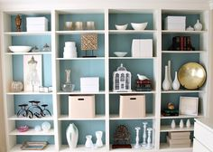 Ikea bookcase - Coloured Backing