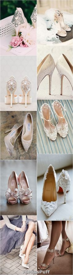 100 Pretty Wedding Shoes from Pinterest / http://www.himisspuff.com/pretty-wedding-shoes/