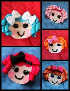 Lalaloopsy Inspired Hair Clip, Bow, Pin, Accessory, Ribbon Sculpture. $5.75, via Etsy.