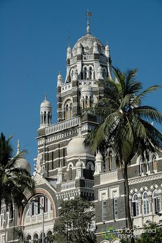 *INDIA ~ High Court in Mumbai - India The area of Mumbai along the Maidens is full of buildings left over from British Colonial rule, like this neo-Gothic high court.
