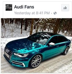 Teal Chrome paint job Audi love it