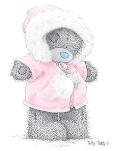 Baby It's Cold Outside ♡ Tatty Teddy tjn Tatty Teddy, Nici Teddy, Cute Images, Cute Pictures, Urso Bear, Teddy Bear Pictures, Teddy Images, Blue Nose Friends, Bear Illustration