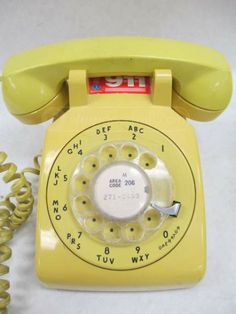 shopgoodwill.com: Vintage Harvest Gold Rotary Telephones Trimline