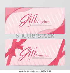 Confetti Gift Voucher Certificate Coupon Template Can Be Use For
