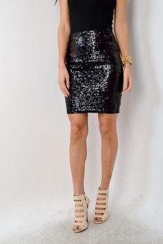 Sleek Sequin Pencil Skirt | Sequin pencil skirt and Products