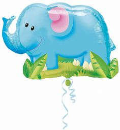 "Amazon.com: Elephant Jungle Animal 33"" Balloon Mylar Birthday Party Zoo Safari Circus (BLUE, 1): Toys & Games"
