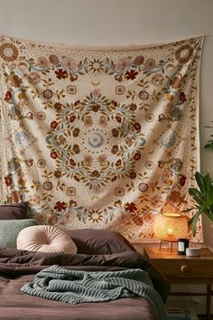 Standout medallion tapestry that transports you to the cosmos with celestial motifs swirling all over like the night sky, printed on a crisp cotton weave. Cool Rooms, Bedroom Boho, Tapestry, Boho Bedroom, Room Inspiration, Diy Room Decor, Bedroom Decor, Room Inspo, Celestial Tapestry