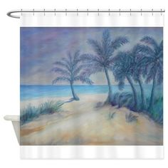 OLD FLORIDA BEACH Shower Curtain