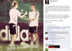 Arsenal's Lukas Podolski sends injured Marco Reus heartfelt message on Facebook [Screenshot] - Football (soccer) highlights, goals, videos & clips | 101 Great Goals