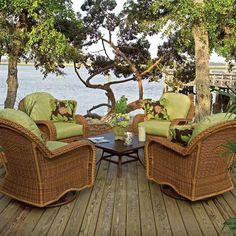Antique Unique Classic Rattan Furniture — Givdo Home Ideas Spa Furniture, Rattan Furniture, Outdoor Furniture Sets, Outdoor Seating, Outdoor Spaces, Outdoor Living, Outdoor Decor, Wicker Rocker, Hot Tub Patio